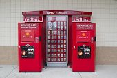 JACKSONVILLE, FL-APR 8: A DVD Rental Redbox Kiosk in Jacksonville, Florida on April 8, 2012. Coinsta