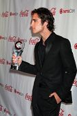 LAS VEGAS - APR 26:  Diego Boneta arrives at the CinemaCon 2012 Talent Awards at Caesars Palace on A