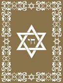 Jewish David Star Design , Vector Illustration