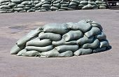 Sandbags ready for action