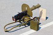 stock photo of maxim  - Historical weapon machine gun  - JPG