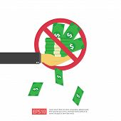 Anti Corruption, Stop And Corrupt Decline Concept. Business Bribe With Money In An Envelope And Proh poster
