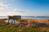 Bird Observation Platform In A Dutch Nature Reserve