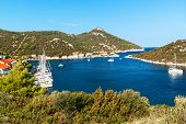 Bay Zaklopatica On The Croatian Island Of Lastovo. Sailboat In The Bay. Holiday In Croatia. Old Harb poster