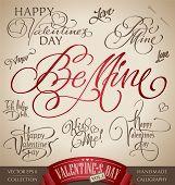 Valentine's hand lettering set (vector)