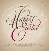 'happy easter' Hand Schrift (Vektor)