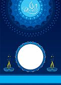 Diwali Festival Of Light In India. Creative Diwali Greeting Card Design. Vector Illustration poster