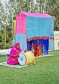 Portrait Of Rajasthani Puppet Performance