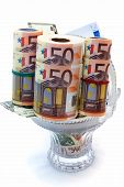 Monetary Denominations Laid In A Vase