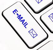 Tecla do teclado de e-mail