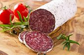 foto of deer meat  - deer salami - JPG