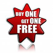 image of free-trade  - buy one get one free button  - JPG