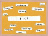 stock photo of pegboard  - CIO Corkboard Word Concept with great terms such as information officer computers and more - JPG