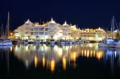 Marina at night, Benalmadena, Andalusia, Spain.