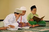 Muslim Kids Reading Koran