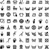 stock photo of laundromat  - 64 Laundry And Washing Icons for web and mobile - JPG