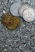 Coins On Sand