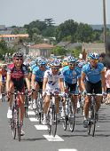 Cyclists In The Tour De France