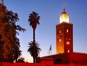 Morocco, Marrakech: The Koutoubia At Night