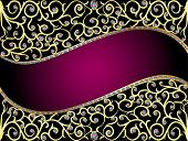 Background With Jewels And Geometric Designs In Gold