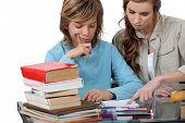 Prepubescent boy being tutored