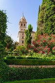 Tower Of St. Mary Church, Alhambra Of Granada/ Spain. 17Th Century