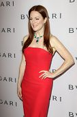 LOS ANGELES - FEB 19:  Julianne Moore arrives at the BVLGARI Celebrates Elizabeth Taylor's Jewelry C