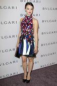 LOS ANGELES - FEB 19:  Marta Gastini arrives at the BVLGARI Celebrates Elizabeth Taylor's Jewelry Co