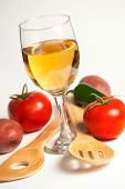 Wine and Vegtables