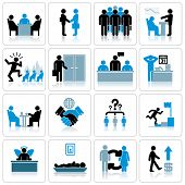 Business Management und Human Resources-Icon-Set. Vektorgrafiken