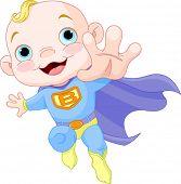 Illustration of Super Hero Baby Boy