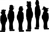 Silhouettes Of Mature Blue Collar Workers