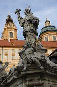 Statue Of St. Nepomuk In Melk, Austria
