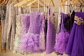 ZAGREB, CROATIA - FEBRUARY 9: Cocktail dresses presented on a fashion exhibition 'Wedding expo', on