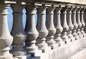 Stone Balusters In Perspective View
