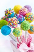 stock photo of cake-ball  - Cake pops - JPG