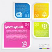 Infographic step by step vector minimal design template.