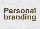 Marketing concept: Personal Branding on fabric texture backgroun