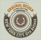 Circular hipster insignia