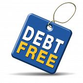 image of debt free  - debt free zone or tax reduction today relief of taxes having good credit financial success paying debts for financial freedom - JPG