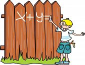 Bully-boy writes on the fence