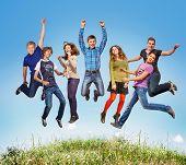 Happy Teen Jumpers