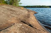 Granite Rocky Lake Coastline