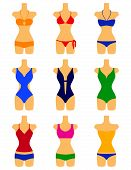 vector set of swimwears
