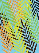 Seamless green Hawaii pattern