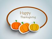 stock photo of indian apple  - Happy Thanksgiving sticker - JPG
