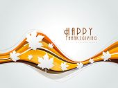 Happy Thanksgiving background with maples leaves, can be use as poster, banner or flyer.