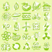 Hand drawn eco icons