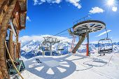Ski Lift Chairs And Sun
