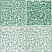 Four Green Square Maze (16X16)